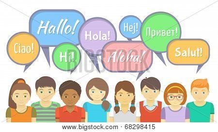 Kids say Hi