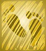 Golden feet reflection - yellow spectrum, wallpaper poster