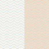 Seamless vintage vector simple wavy line pattern poster