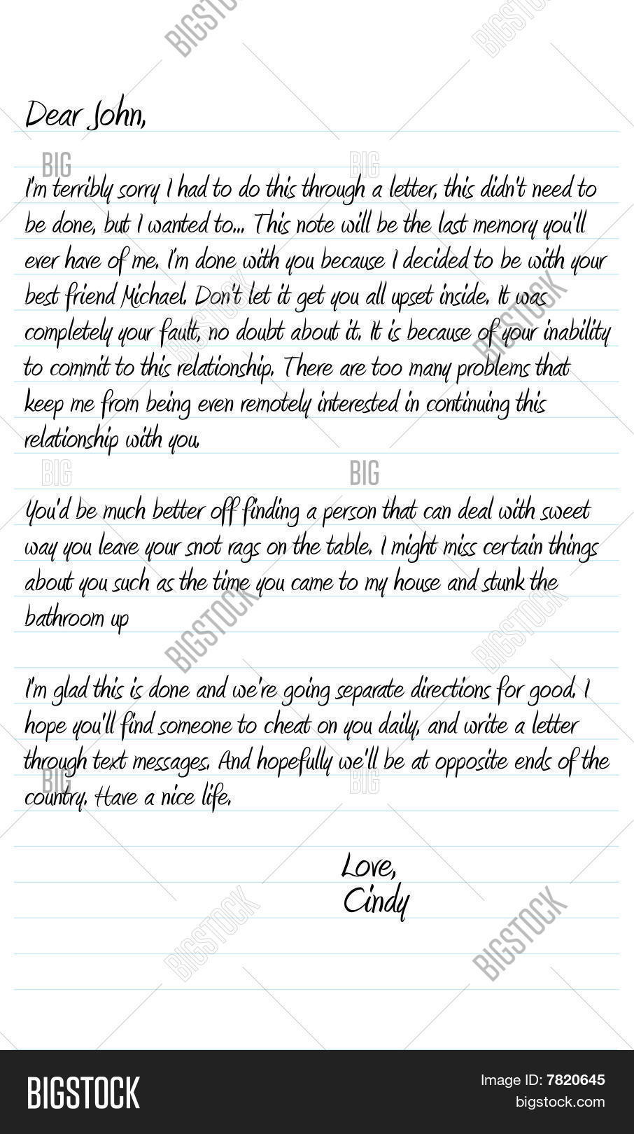 Dear John Letter Vector & Photo (Free Trial) | Bigstock