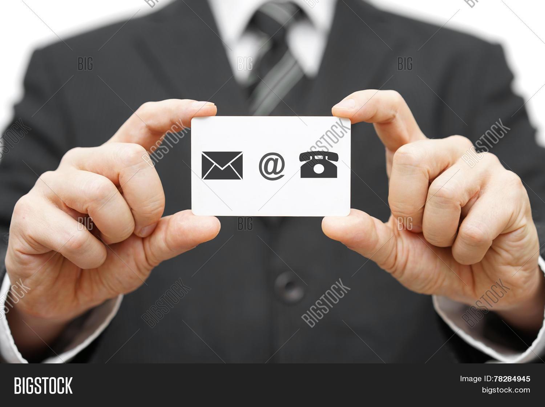 Businessman Hold Business Card Image & Photo | Bigstock