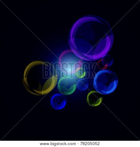 Color Of Pearl Bubbles On Dark Blue Background