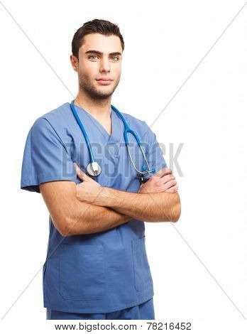 Portrait of an handsome young doctor