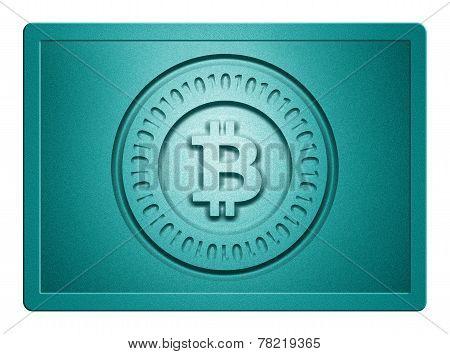 Cyan Metallic Bitcoin Plate