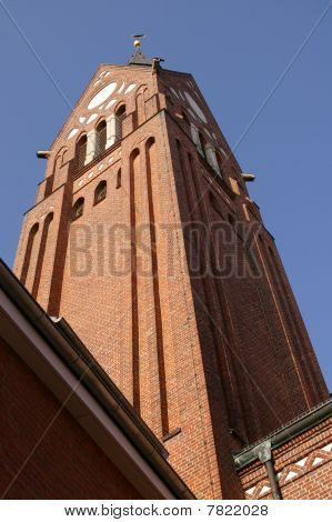St.Willehad brickstone church tower