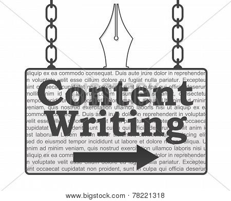 Content Writing Signboard