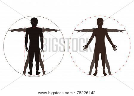 Silhouetted Human Body
