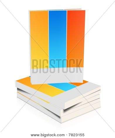 Illustration of  a book on white background