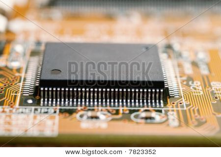 Electronic Circuit Board Of Computer With Chipset