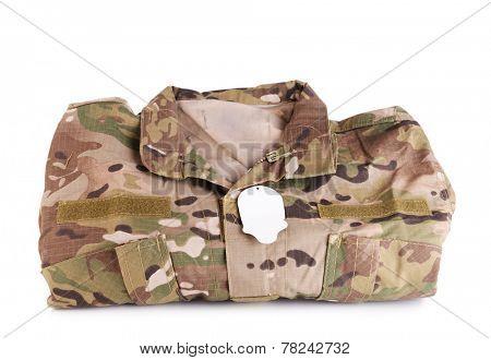 Uniforms khaki isolated on white