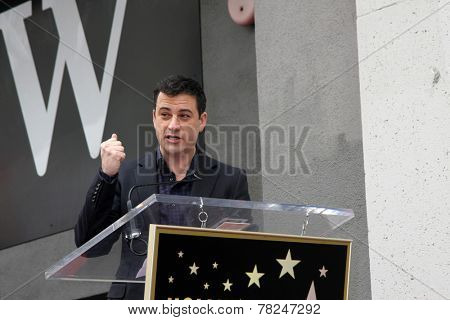 LOS ANGELES - DEC 11:  Jimmy Kimmel at the Don Mischer Star on the Hollywood Walk of Fame at the Hollywood Boulevard on December 11, 2014 in Los Angeles, CA