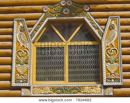 Wooden Window, Izmaylovo, Moscow