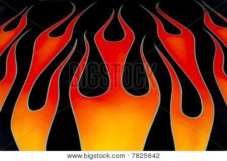 Custom car flames