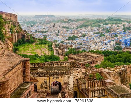 India, panoramic view of Jodhpur