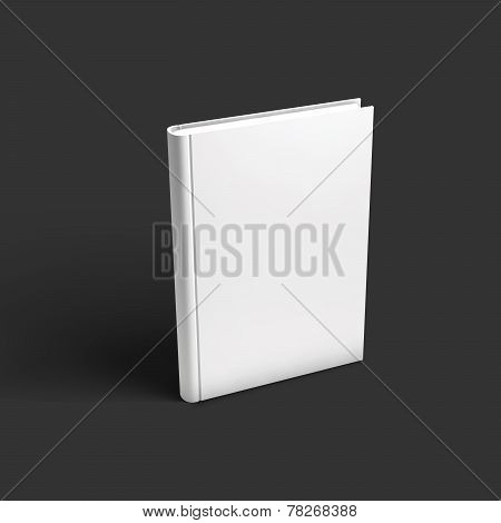 Blank book, textbook, booklet or notebook mockup.