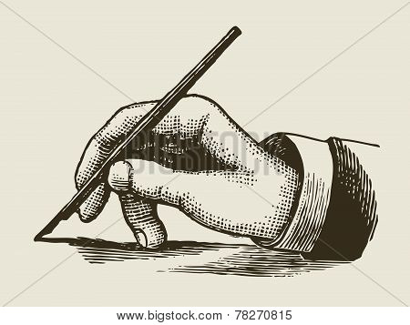 Vintage Writing Hand