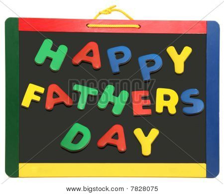 Happy Father's Day On Chalkboard