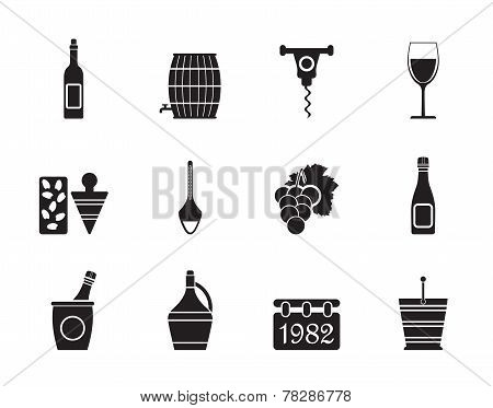Silhouette Wine Icons