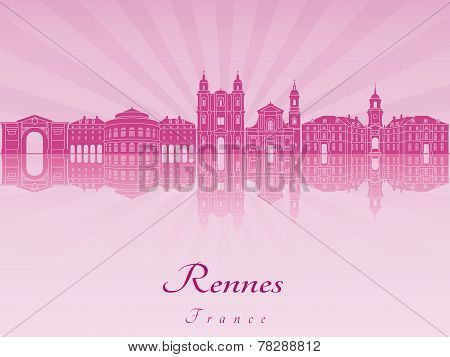 Rennes Skyline In Purple Radiant Orchid