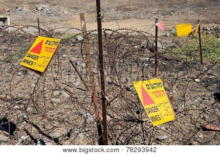 Warning Signs With Danger Mines