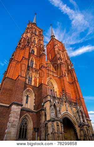Cathedral of St. John in Wroclaw Poland poster