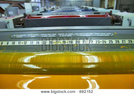 different printed machines and polygraphic equipment machinery ** Note: Shallow depth of field poster