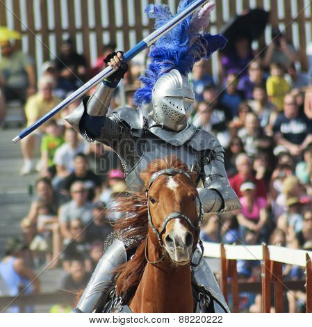 A Victorious Knight At The Arizona Renaissance Festival