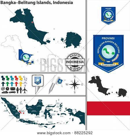 Map Of Bangka Belitung Islands, Indonesia