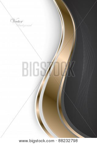 Stylish Abstract Gold Background. Vector Illustration