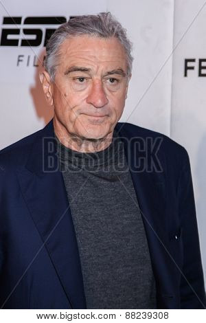 NEW YORK, NY - APRIL 16: Robert De Niro attends  the premiere of 'Play It Forward' during the 2015 Tribeca Film Festival on April 16, 2015 in New York City.