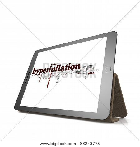 Hyperinflation Word Cloud On Tablet