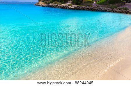 Mallorca Cala Vinyes Vinas beach in Calvia Mallorca at Balearic islands of spain