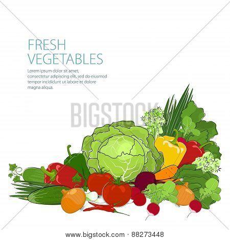 Healthy Food, Fresh Raw Vegetables