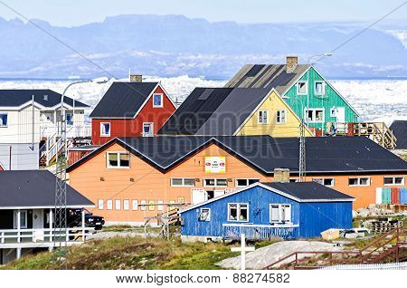 The Colorful Buildings Of Ilulissat