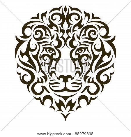Lion vector tattoo illustration