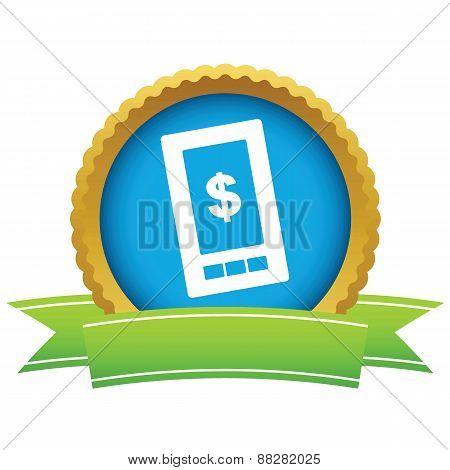Gold dollar phone logo