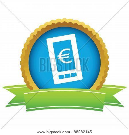 Gold euro phone logo