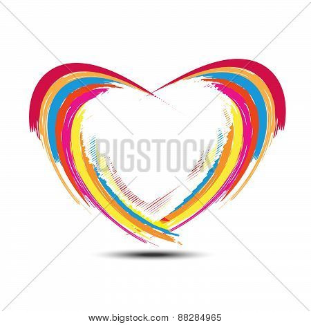 Abstract Rainbow Heart Design