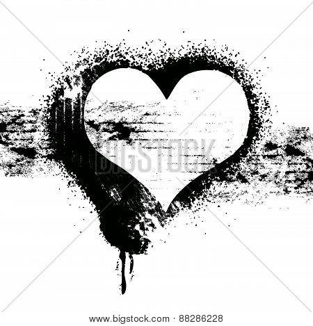 Grunge Heart Symbol Design