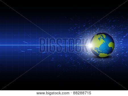 Future Digital Global Technology Background