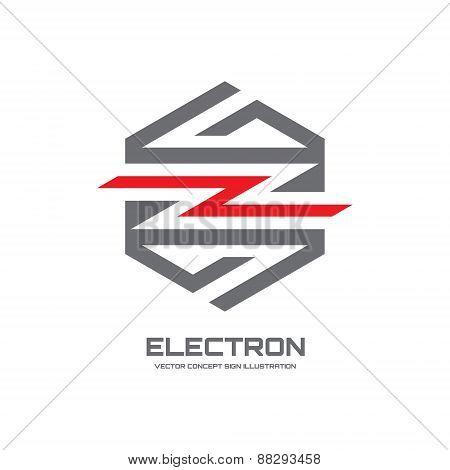 Electron - vector logo concept illustration. Lightning logo.