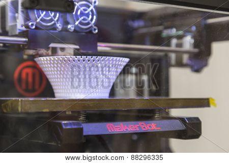 3D Printer On Display At Fuorisalone During Milan Design Week 2015