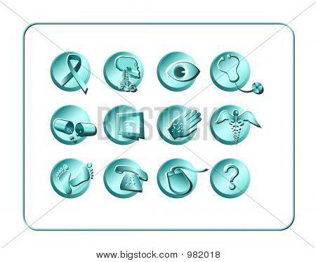 Medical & Pharmacy Icon Set - Light 2