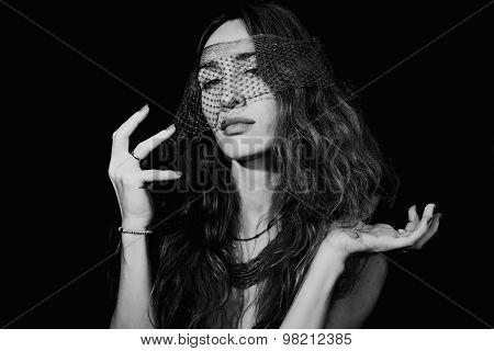 Beautiful Woman Wearing A Veil