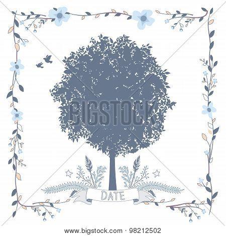 Card with Big Tree