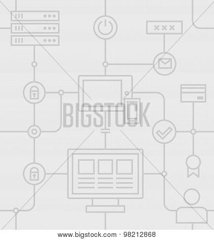 Internet Security Grey Pattern
