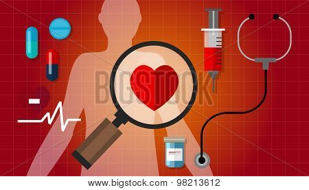 heart failurea disease healthy red pulse problem medication
