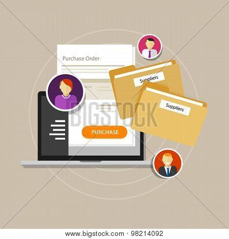 online procurement e-procurement procure internet laptop