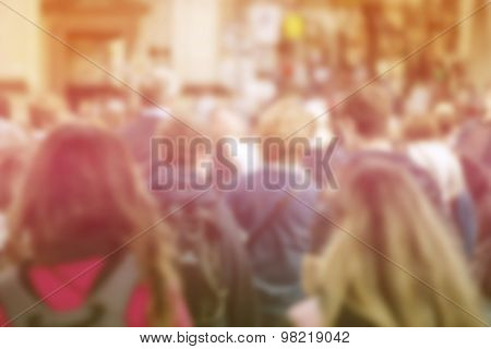 Blur Crowd Of People, General Public Concept