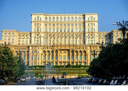 Parliament building in Bucharest